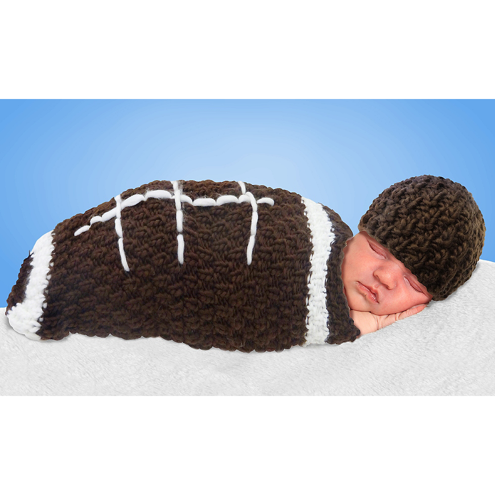 Nav Item for Baby Crochet Cocoon Football Costume Image #1
