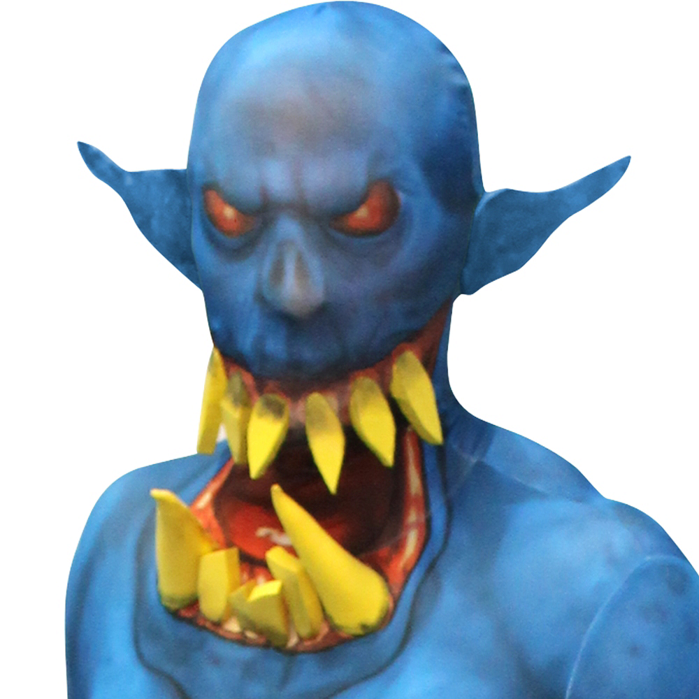 Adult Blue Jaw Dropper Orc Morphsuit Image #2