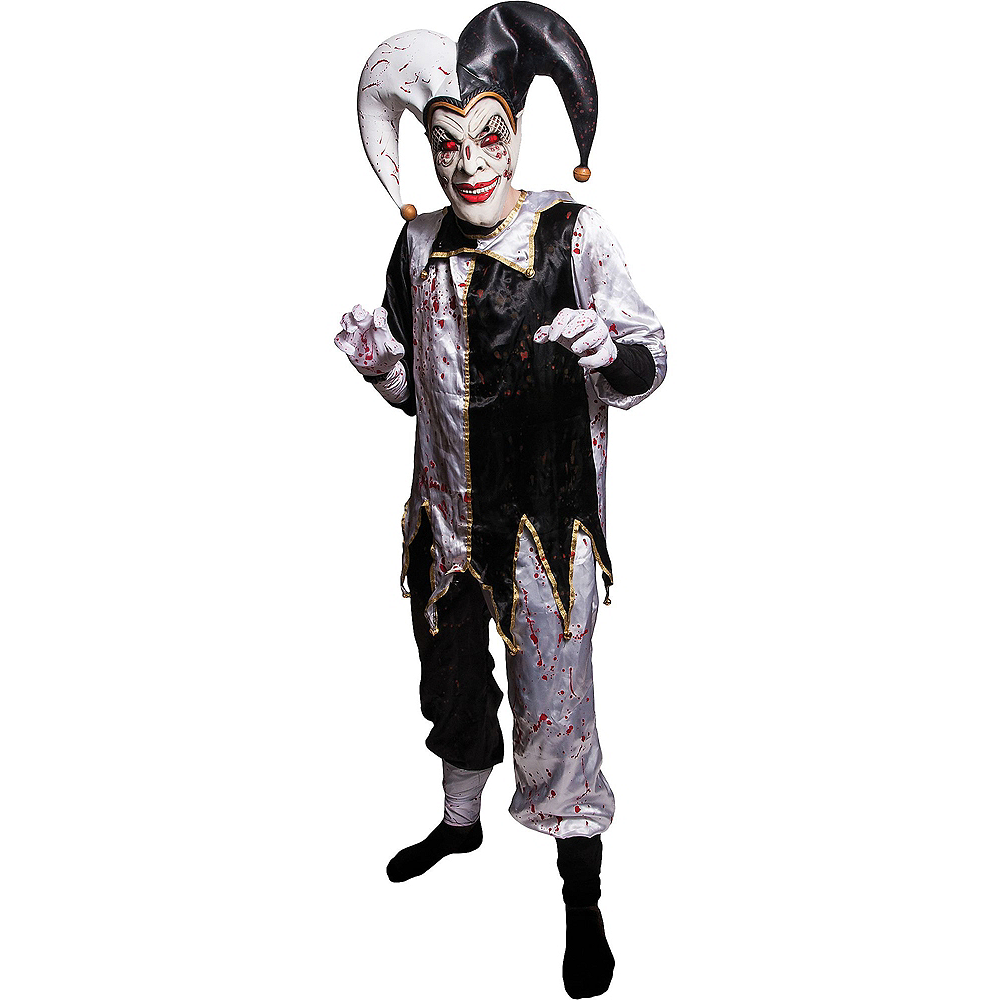 Nav Item for Adult Light-Up Evil Harlequin Jester Costume Image #1