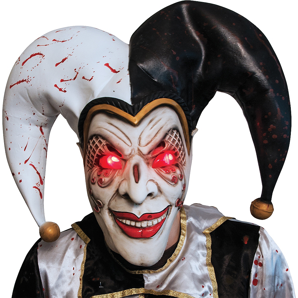 Nav Item for Adult Light-Up Evil Harlequin Jester Costume Image #2