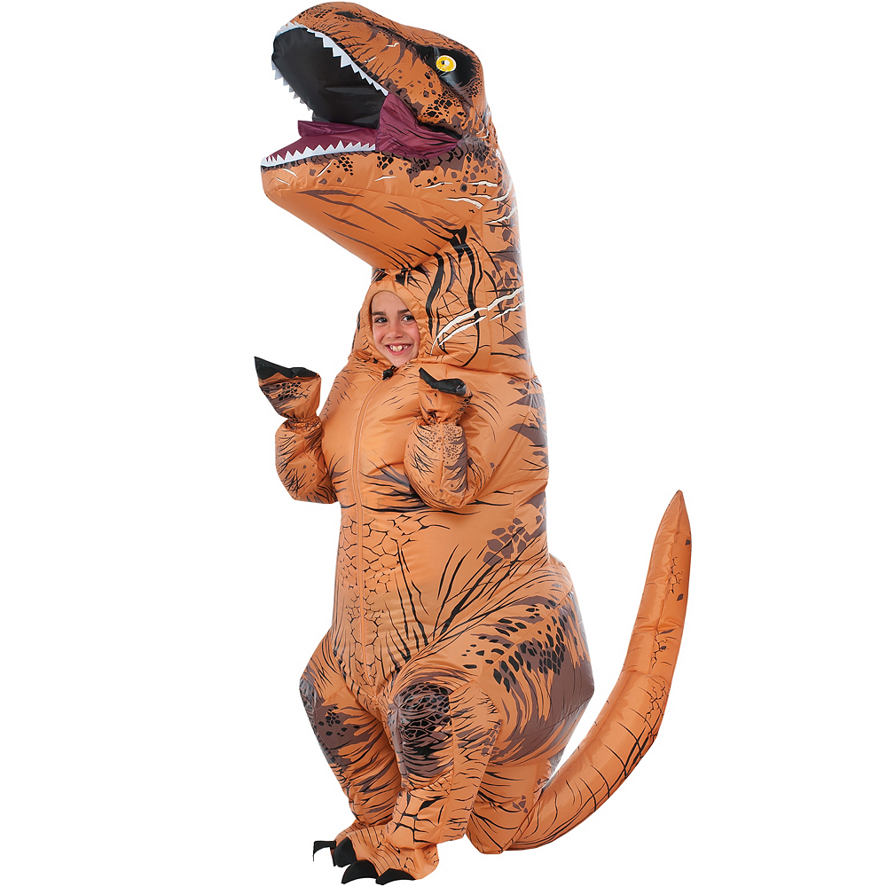 Child Inflatable T-Rex Dinosaur Costume - Jurassic World Image #1