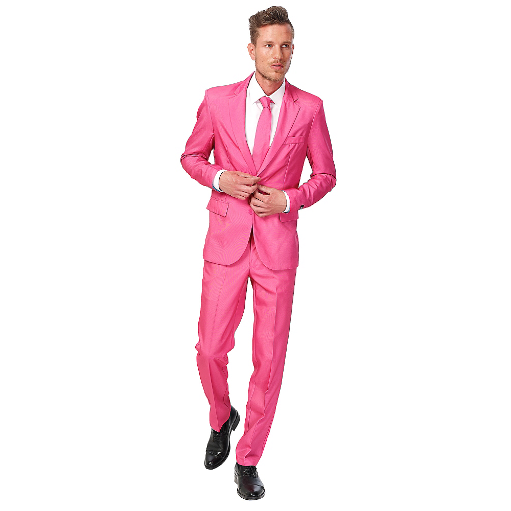 Nav Item for Adult Mr. Pink Suit Image #1