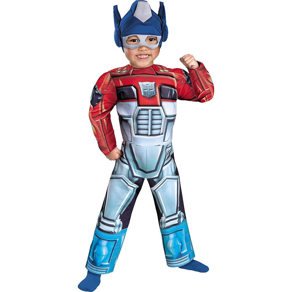 Toddler Boys Optimus Prime Muscle Costume - Transformers: Rescue Bots Image #1
