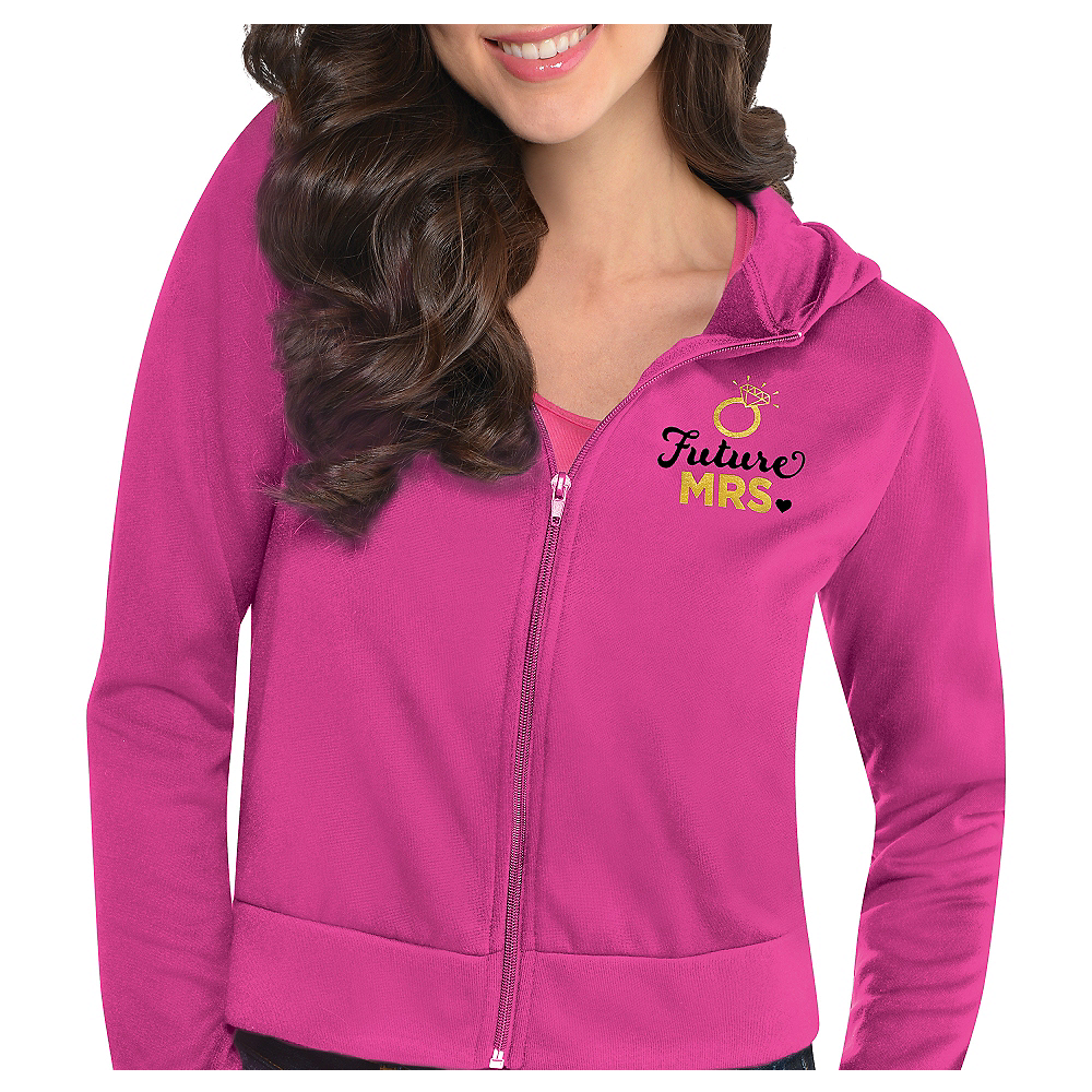 Pink Future Mrs. Zip-Up Hoodie - Sassy Bride Image #1