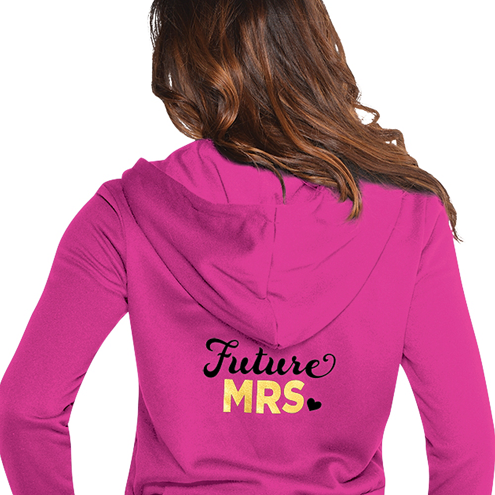 Pink Future Mrs. Zip-Up Hoodie - Sassy Bride Image #2