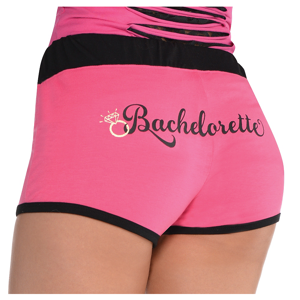 Nav Item for Pink Bachelorette Boyshorts - Sassy Bride Image #1