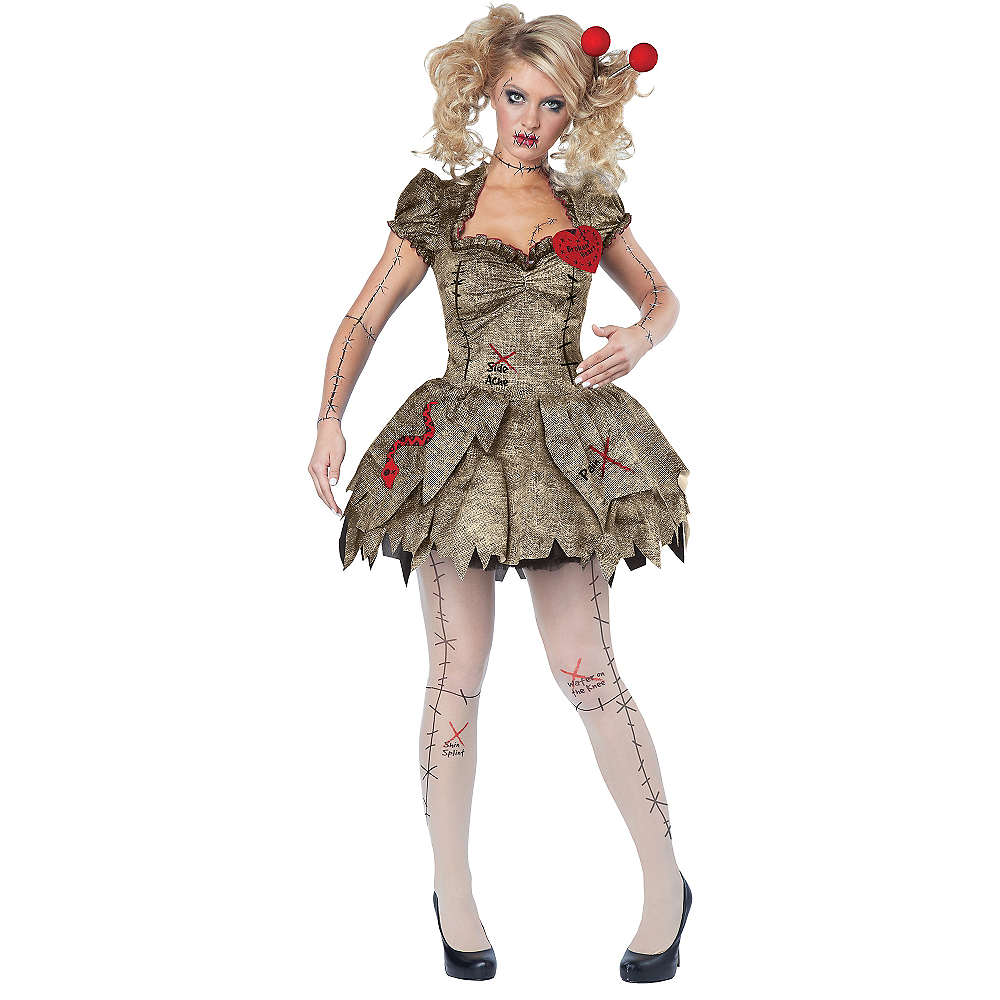 30ff6b2996737 Adult Voodoo Dolly Costume Image #1 ...