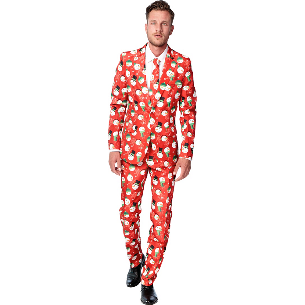 Nav Item for Adult Snowman Print Suit Image #1