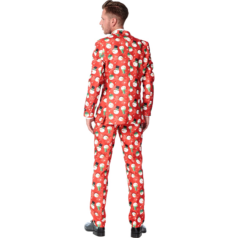 Nav Item for Adult Snowman Print Suit Image #2