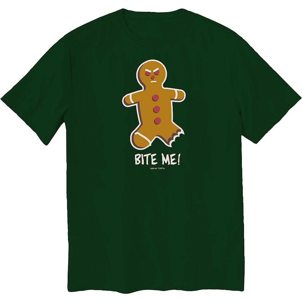Bite Me Gingerbread Man T-Shirt Image #1