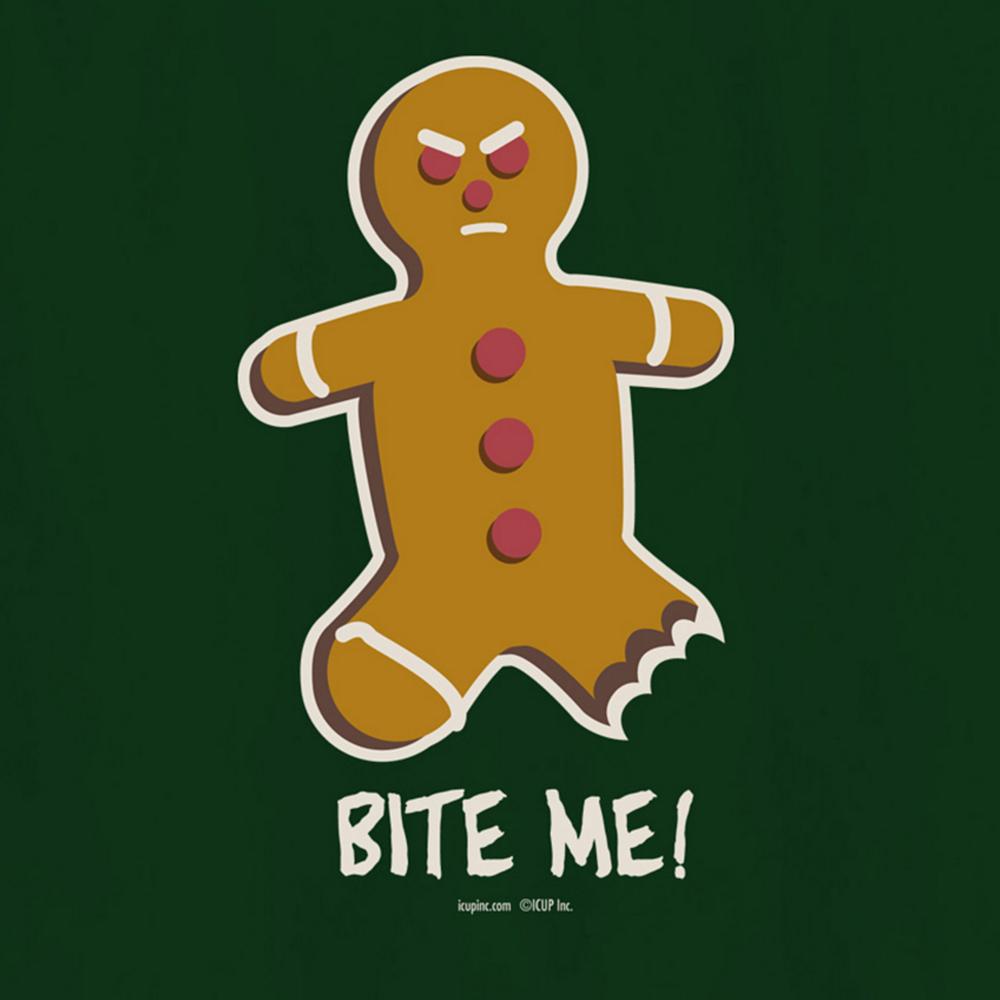 Bite Me Gingerbread Man T-Shirt Image #2