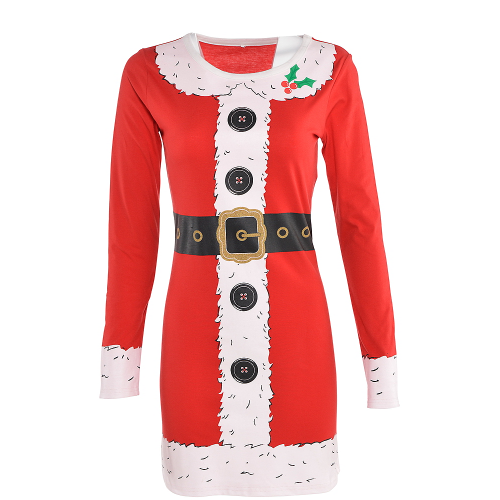 Adult Santa Long-Sleeve Dress Image #3