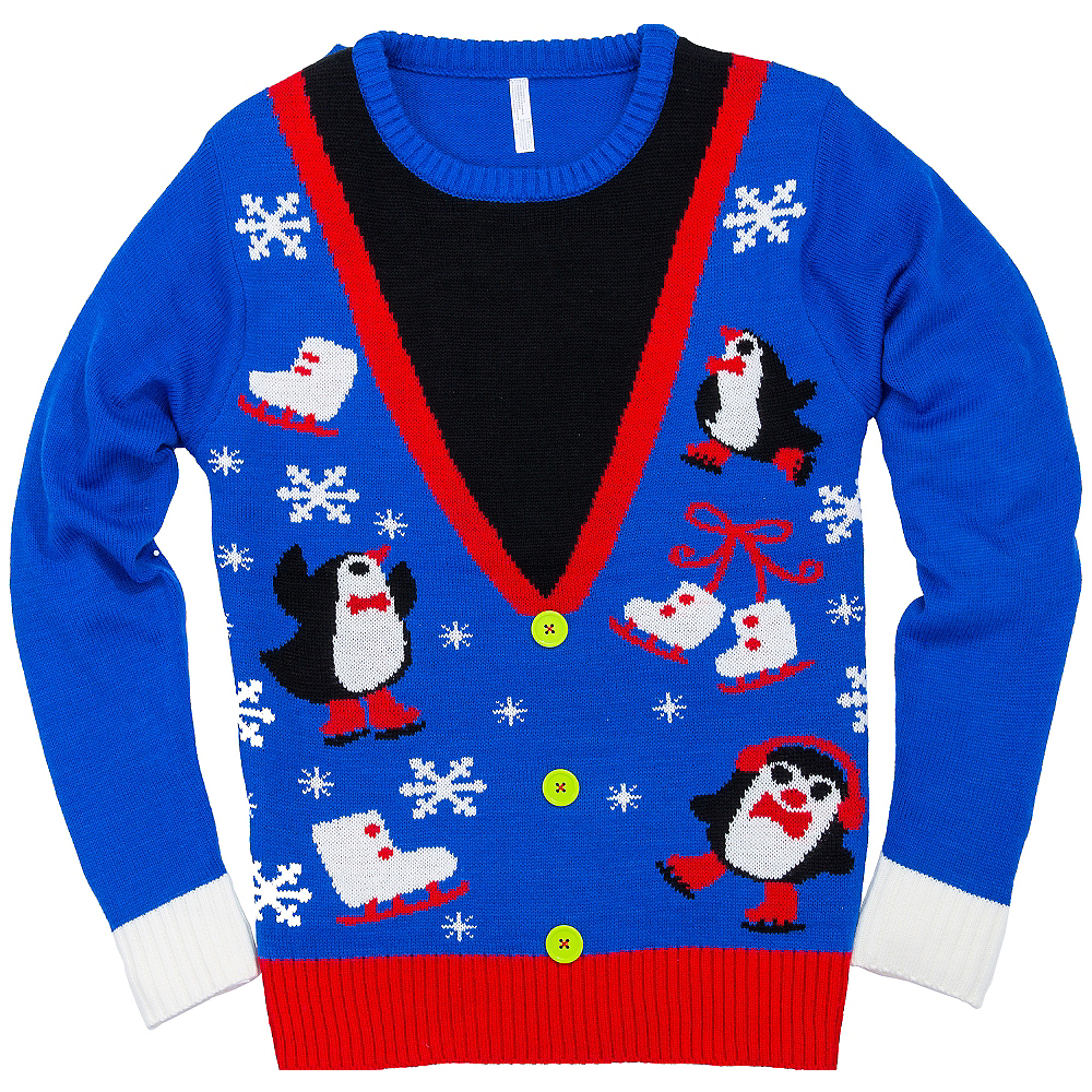 Penguin Vest Ugly Christmas Sweater | Party City