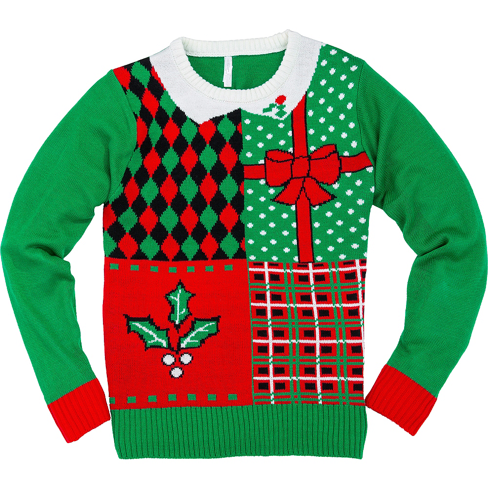 Patterned Block Ugly Christmas Sweater | Party City