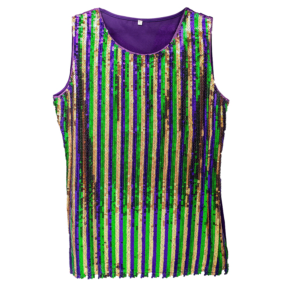 Nav Item for Sequin Mardi Gras Tank Top Image #1