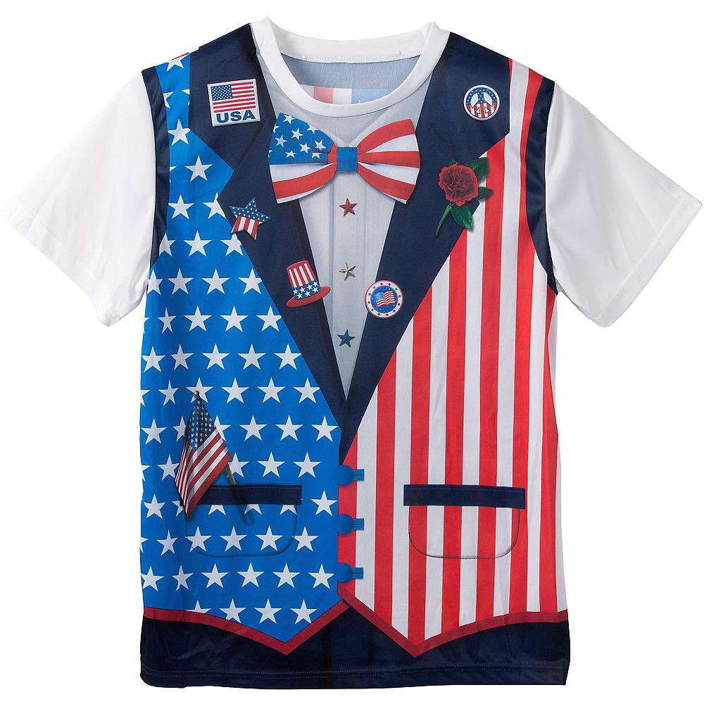 Patriotic Bow Tie & Vest T-Shirt  Image #1