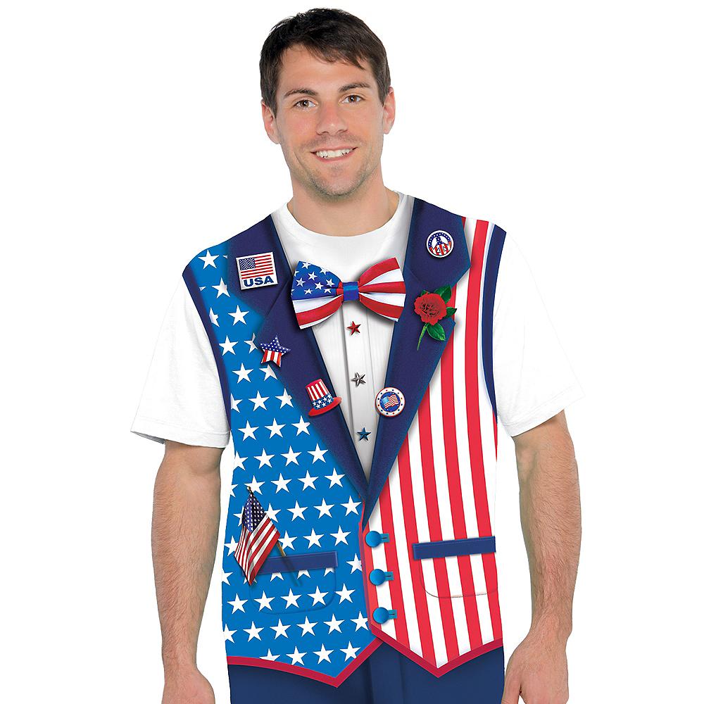Patriotic Bow Tie & Vest T-Shirt  Image #2