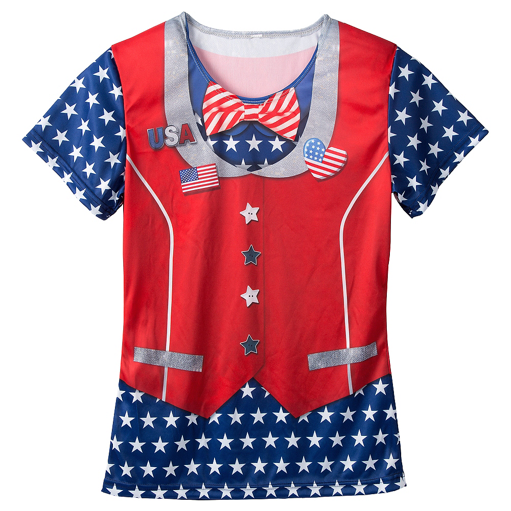 Nav Item for Ugly Patriotic Bow Tie & Vest T-Shirt Image #1