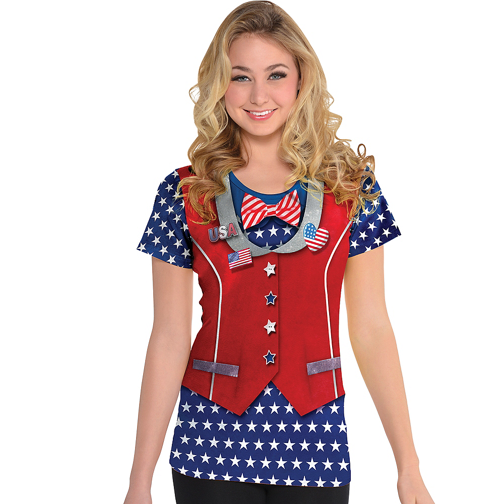 Nav Item for Ugly Patriotic Bow Tie & Vest T-Shirt Image #2