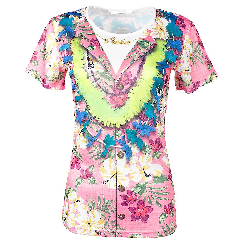 Pink hawaiian t shirt party city pink hawaiian t shirt mightylinksfo
