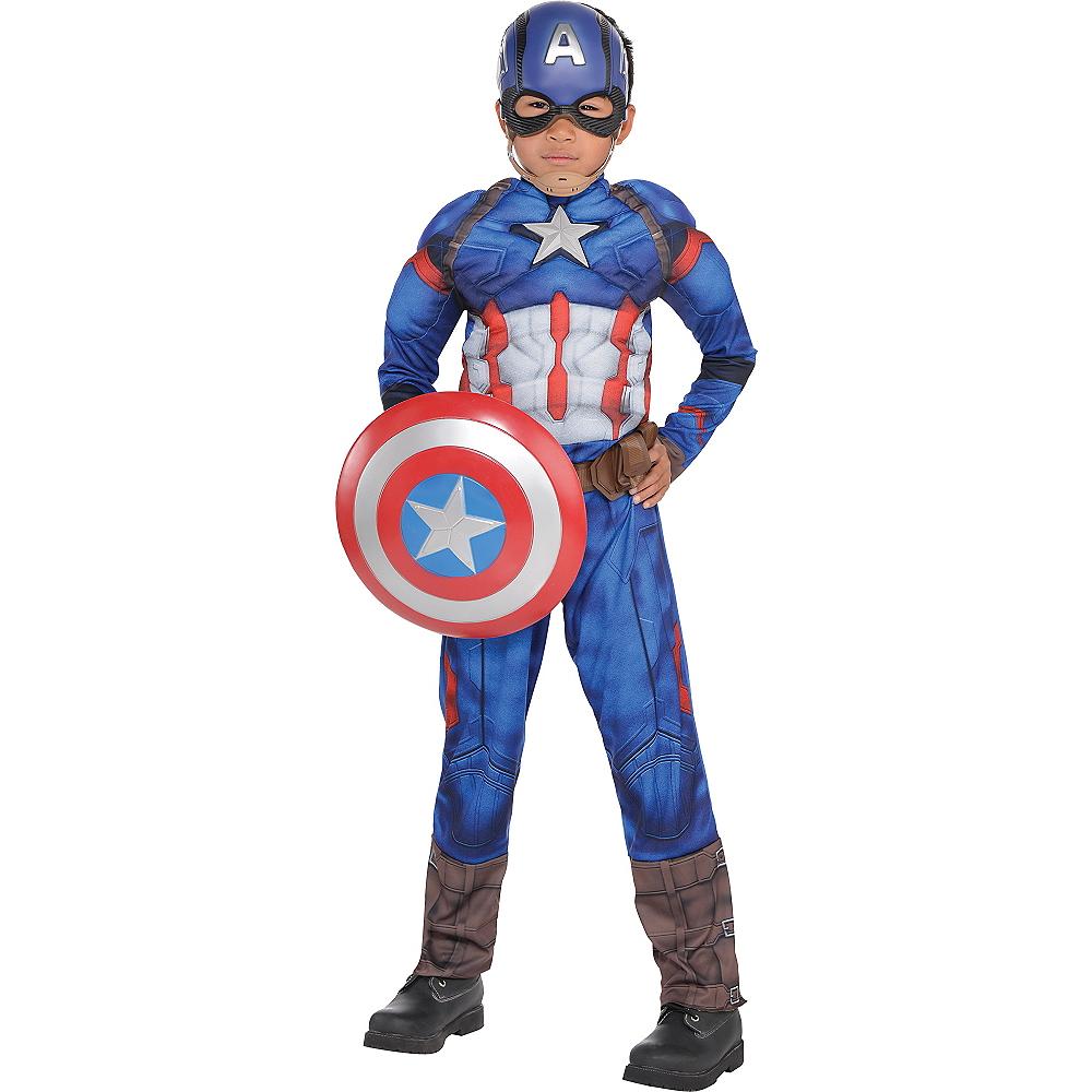 Boys Captain America Muscle Costume - Captain America: Civil War Image #1