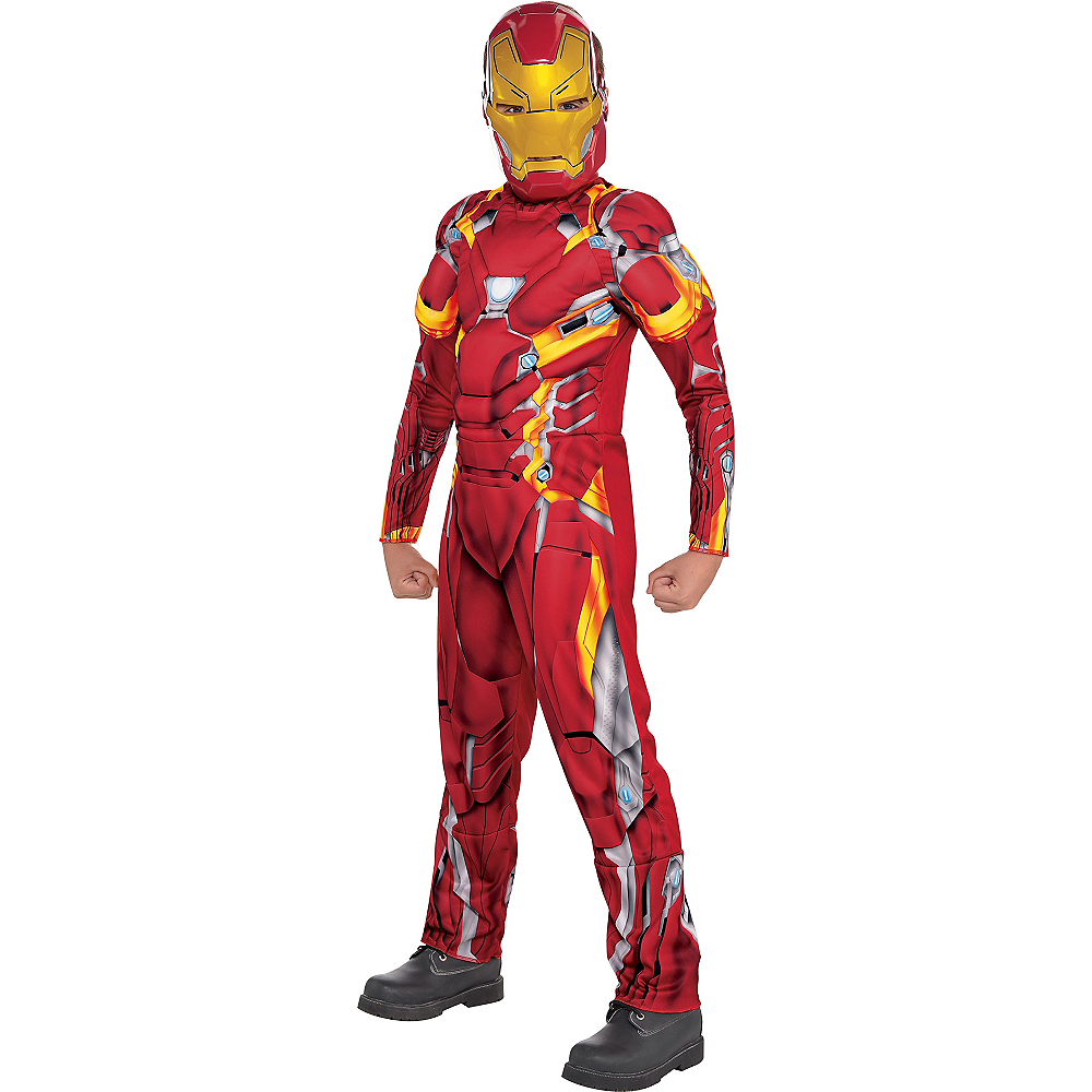 Boys Iron Man Muscle Costume - Captain America: Civil War Image #1
