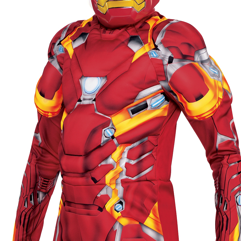 Boys Iron Man Muscle Costume - Captain America: Civil War Image #3