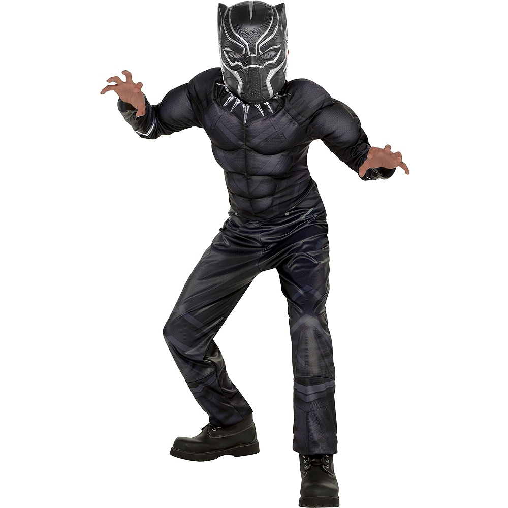 2b63353b3016f2 Boys Black Panther Muscle Costume - Black Panther Image #1 ...