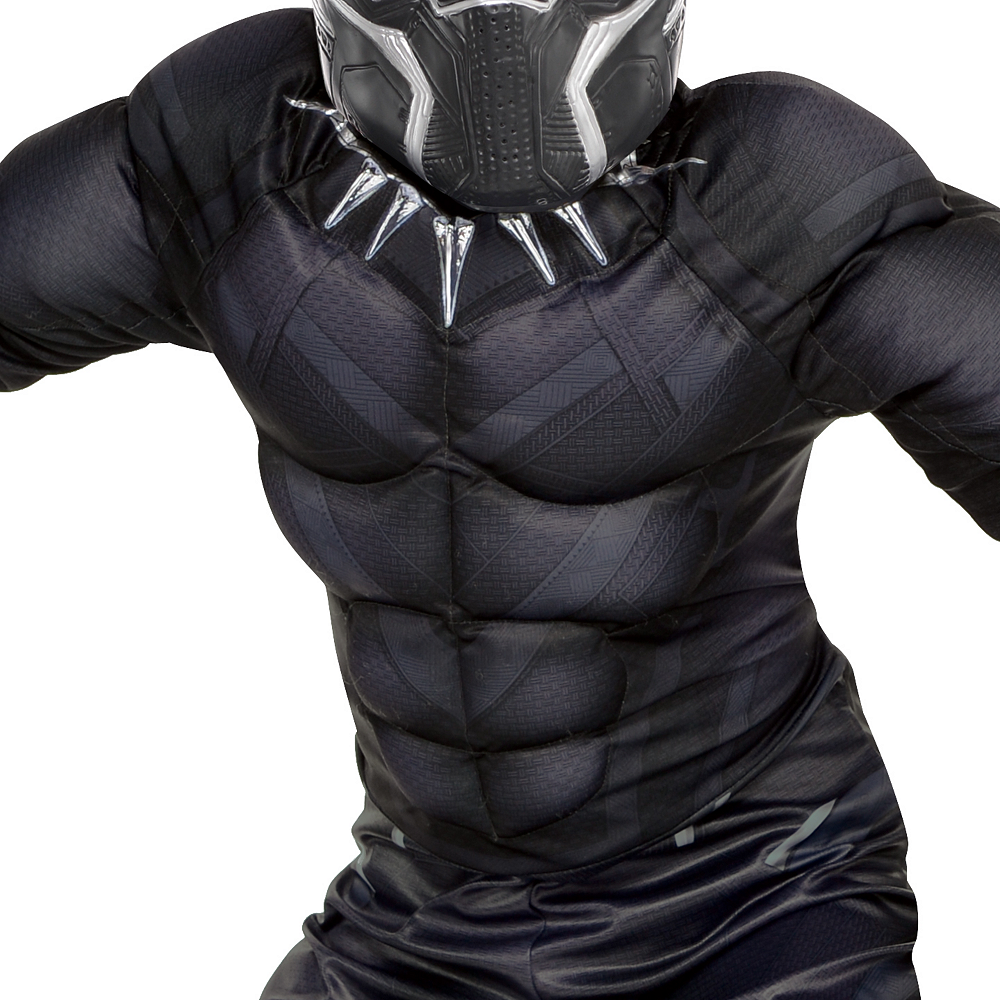 Boys Black Panther Muscle Costume - Black Panther Image #3
