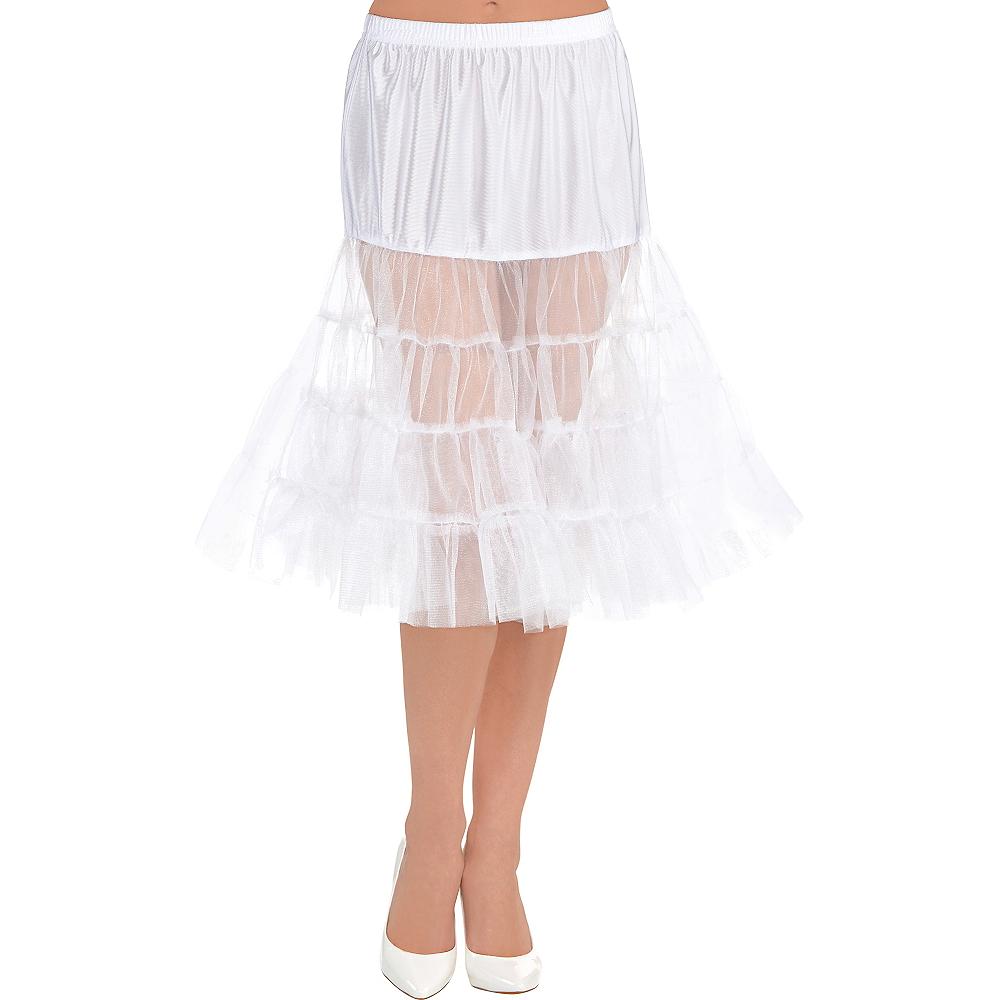 White Knee Length Petticoat Image #1