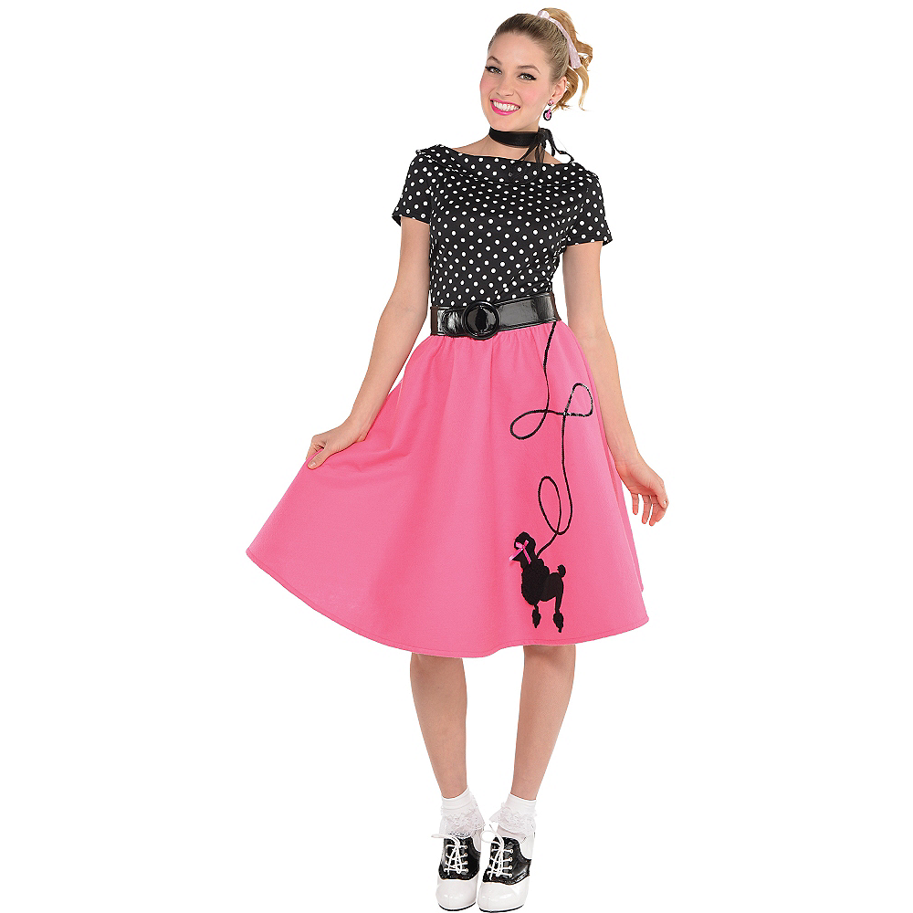 c07894118def Nav Item for Adult 50s Flair Poodle Skirt Costume Image #1 ...