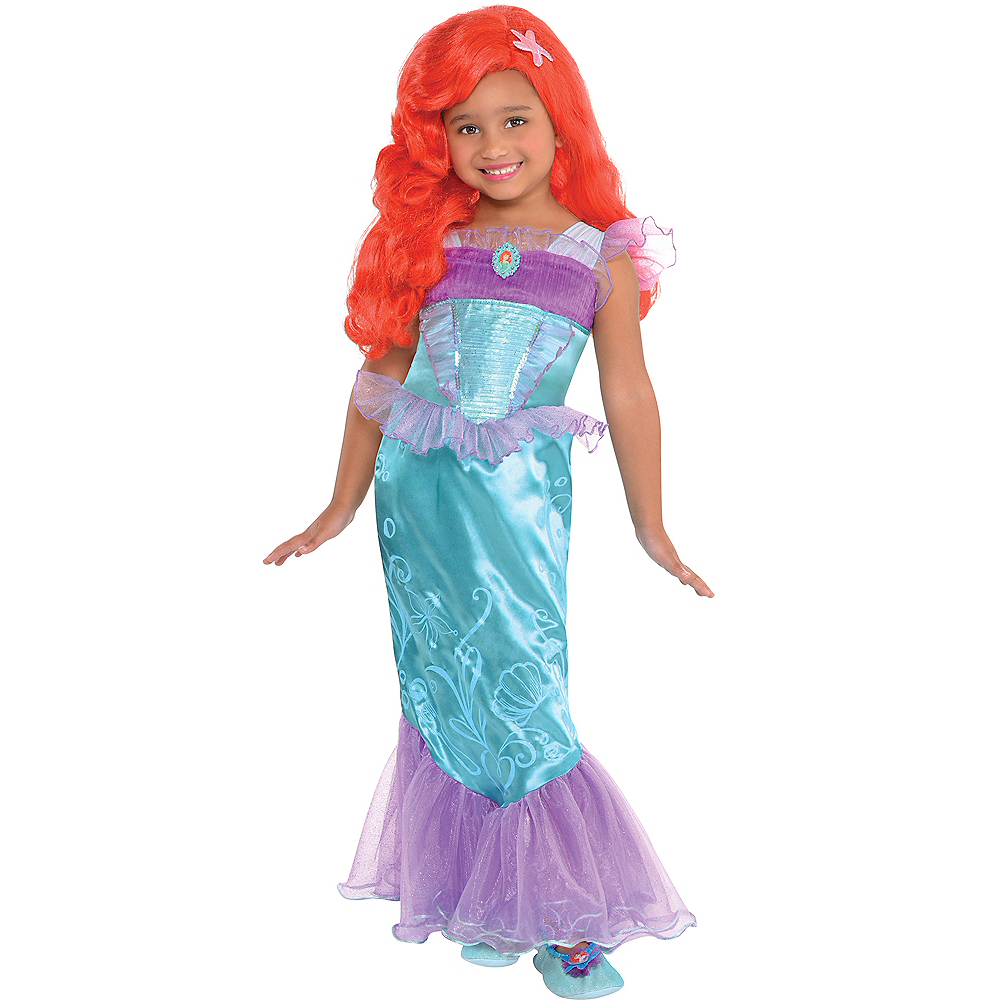 d81ac3a3d60ddd Girls Ariel Costume - The Little Mermaid Image  1 ...