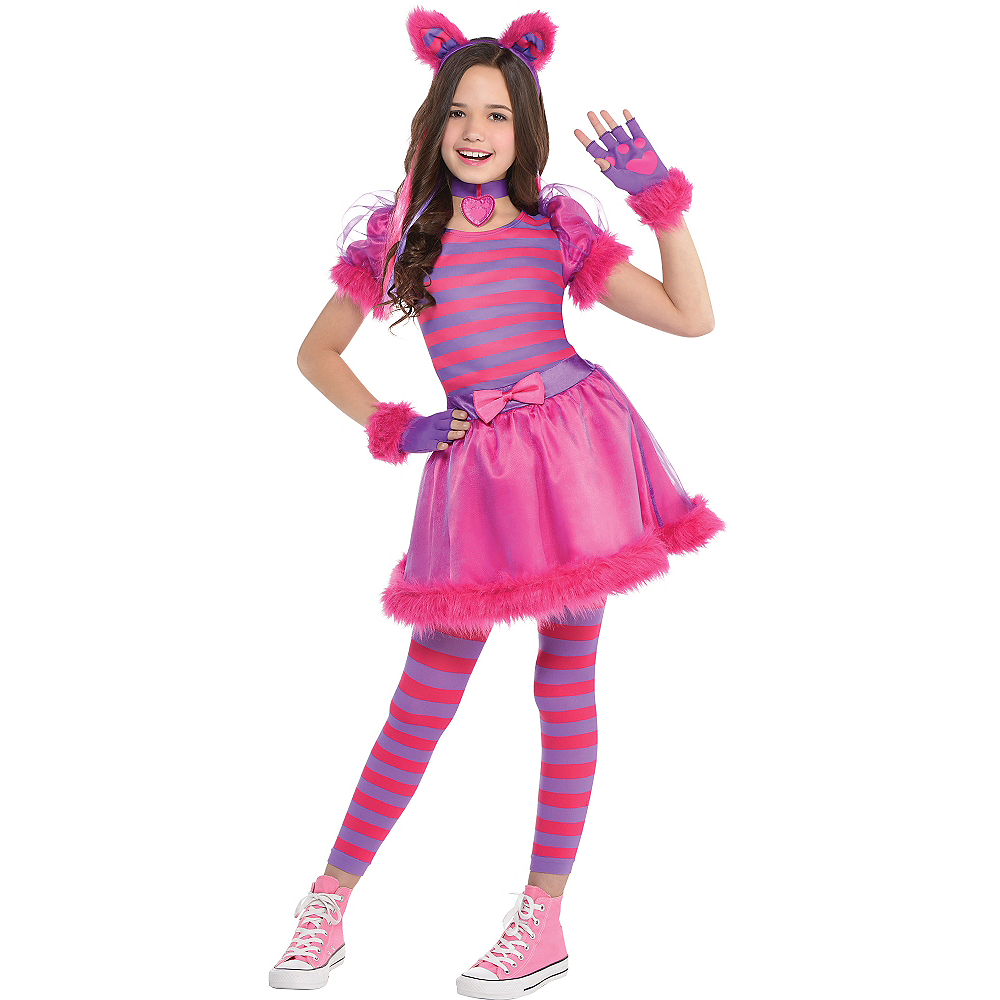 Girls Cheshire Cat Costume Image #1