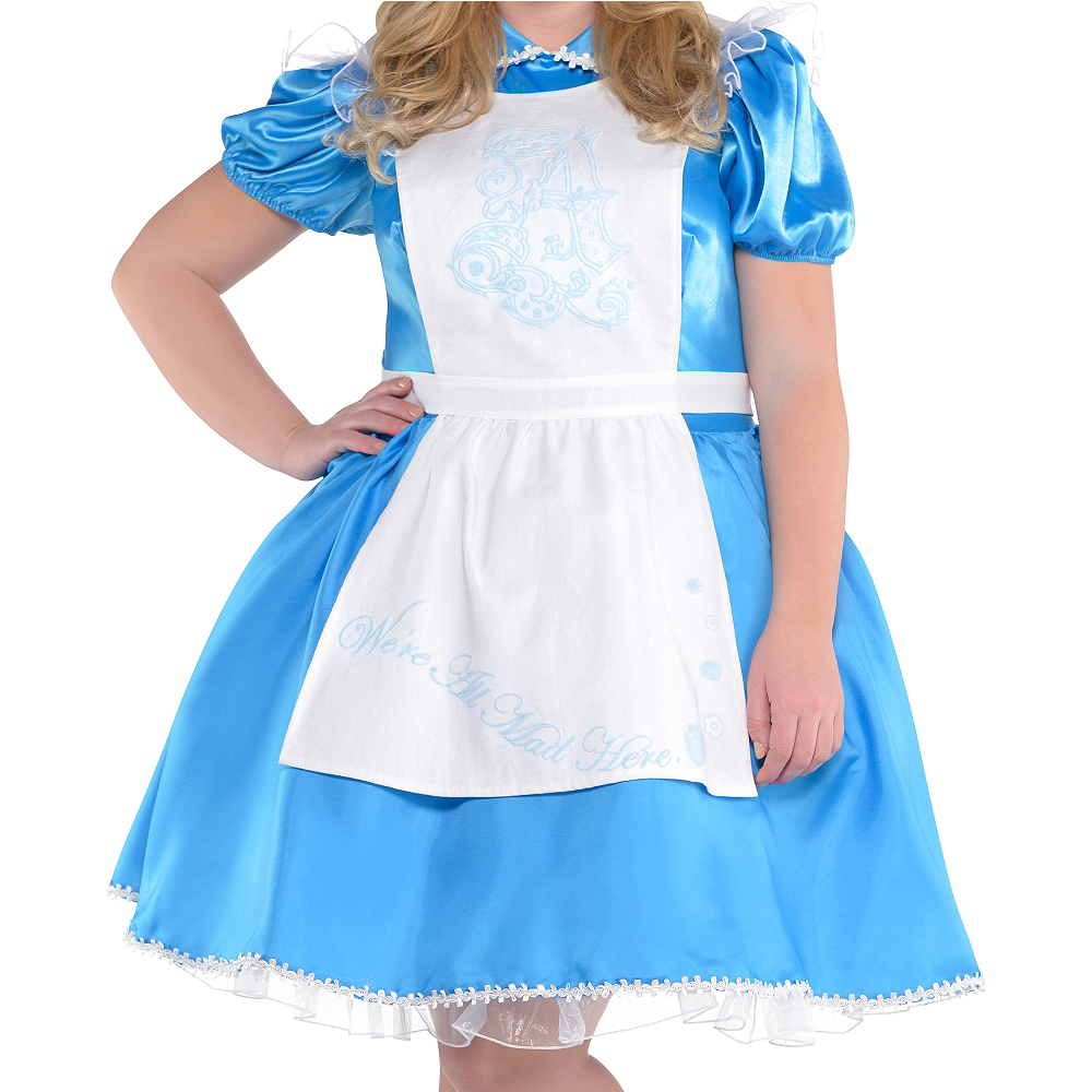 Nav Item for Adult Alice in Wonderland Costume Plus Size - Alice in Wonderland Image #2
