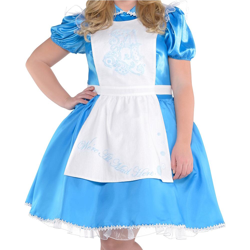 Adult Alice in Wonderland Costume Plus Size - Alice in Wonderland Image #2