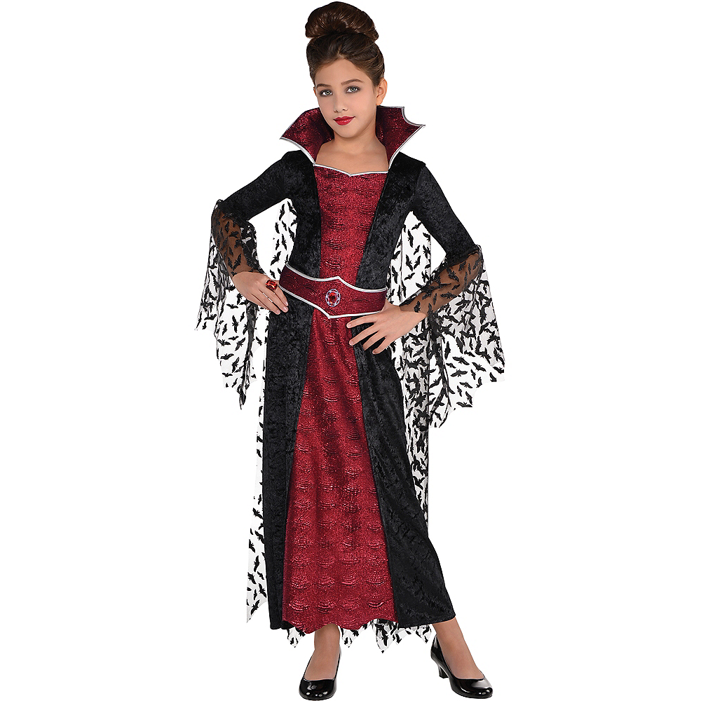 Girls Coffin Queen Vampire Costume Image #1