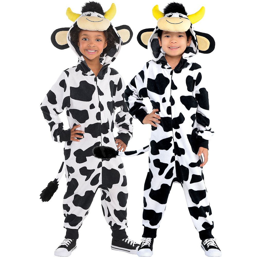 Child Zipster Cow One Piece Costume Image #1