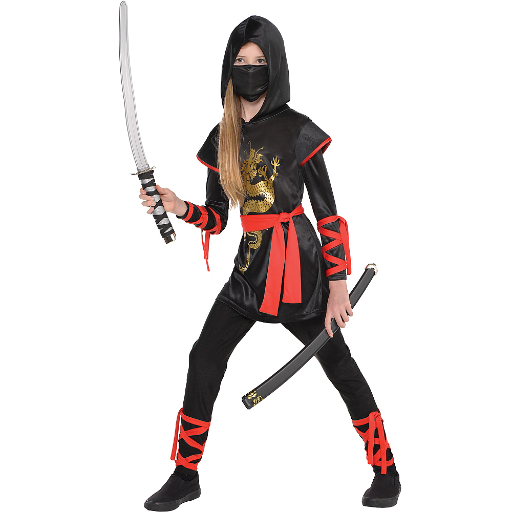 Girls Dragon Ninja Costume Image #1