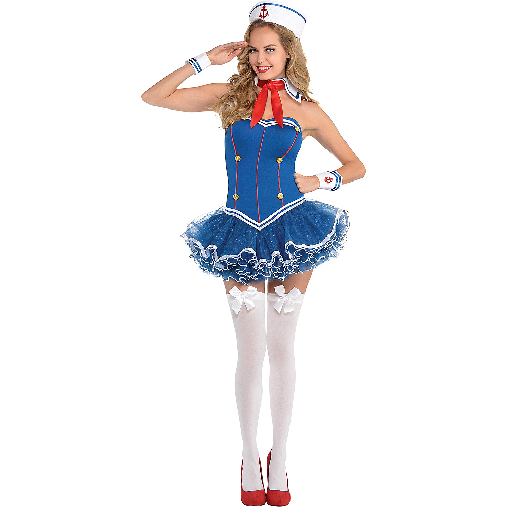 Nav Item for Adult Dreamboat Sailor Costume Image #1