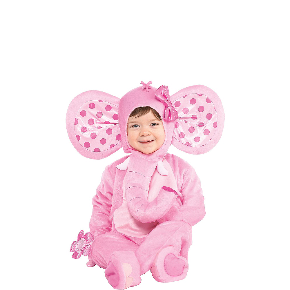 Nav Item for Baby Pink Elephant Costume Image #1