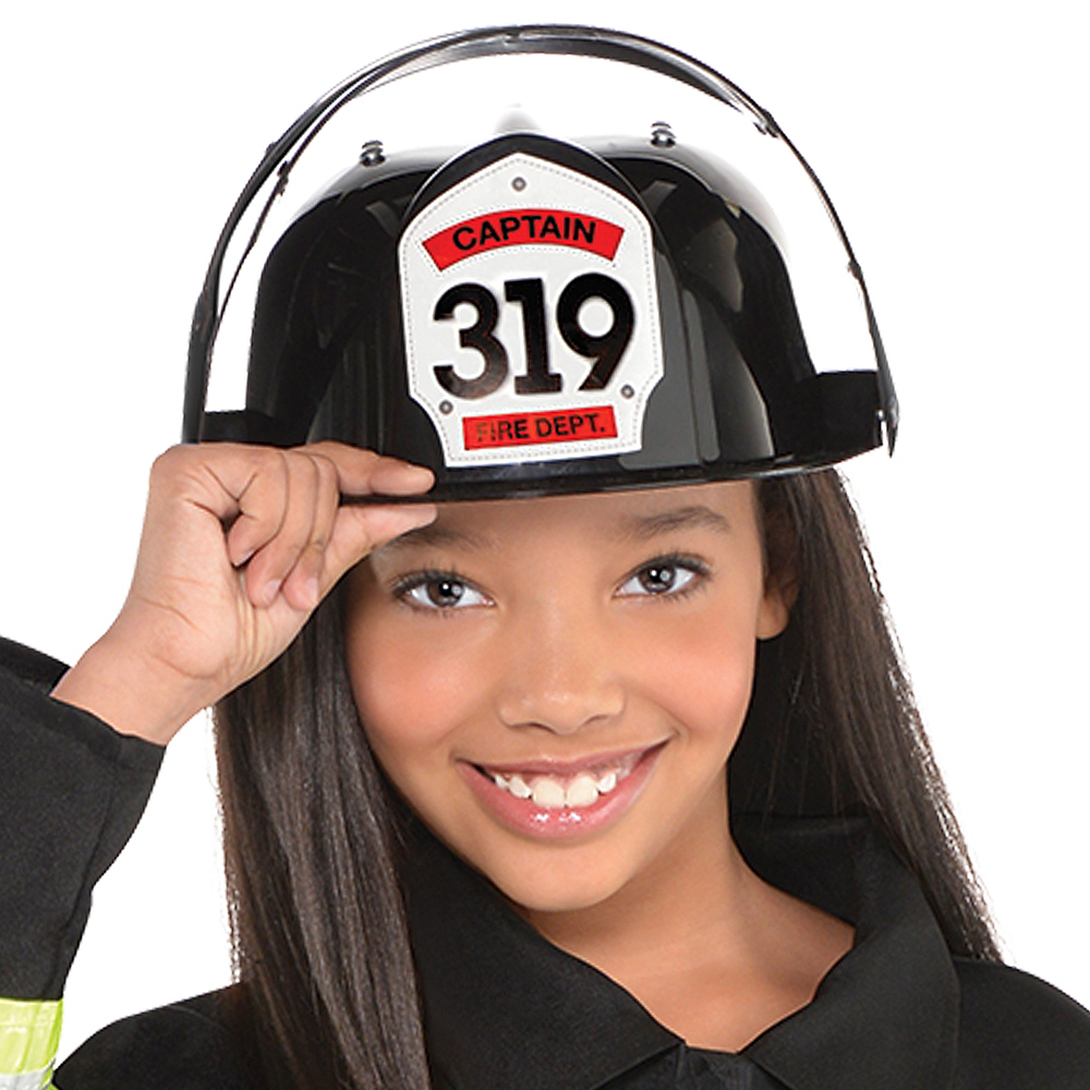 Girls Reflective Firefighter Costume Image #2
