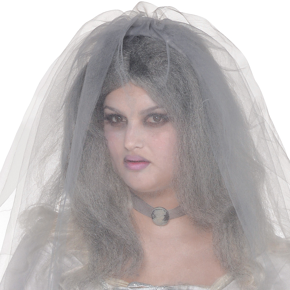 Adult Ghost Bride Costume Plus Size Image #2