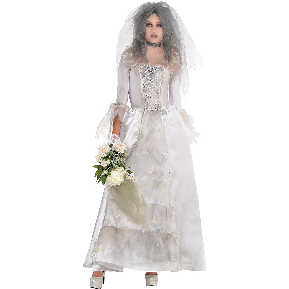 Adult Ghost Bride Costume Image #1
