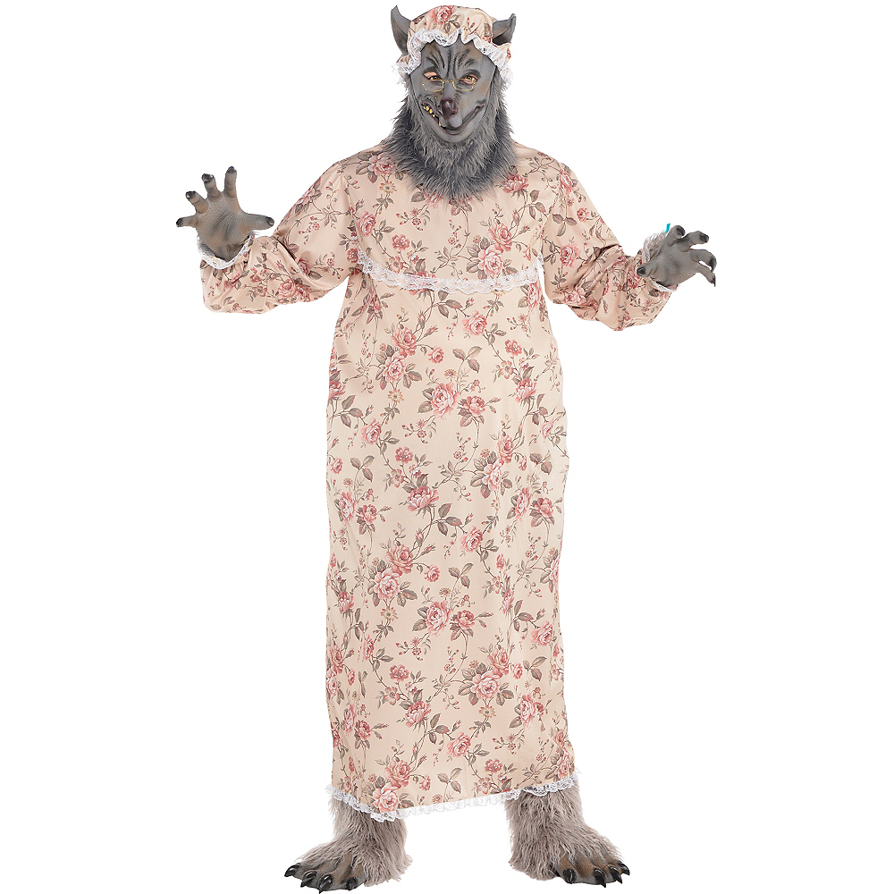 Adult Grandma Wolf Costume Plus Size Image #1