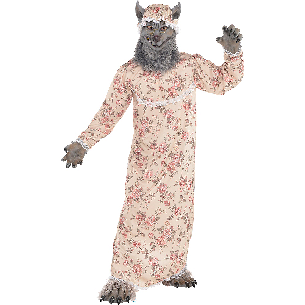 Nav Item for Adult Grandma Wolf Costume Image #1