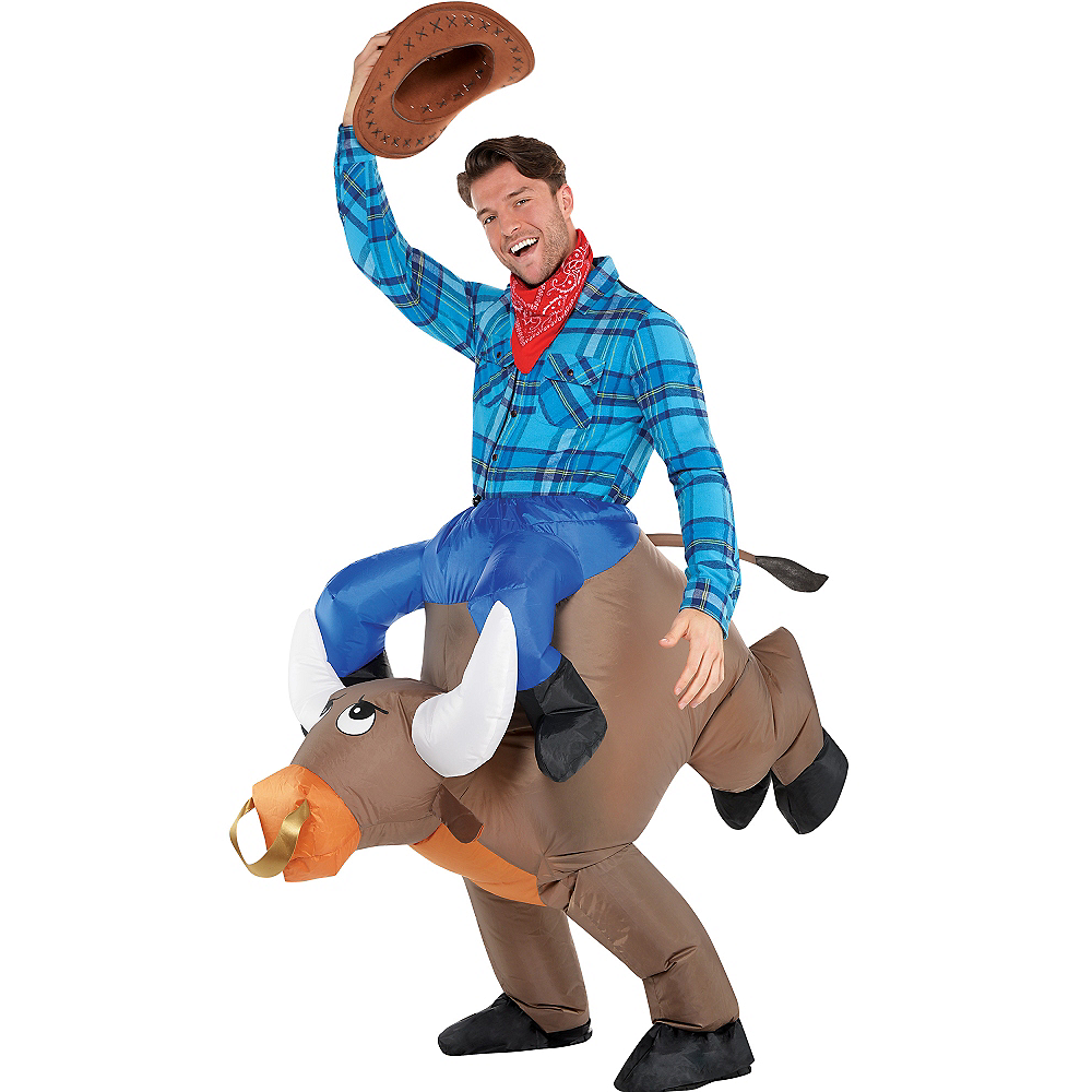 Adult Inflatable Bull Ride On Costume Image #1
