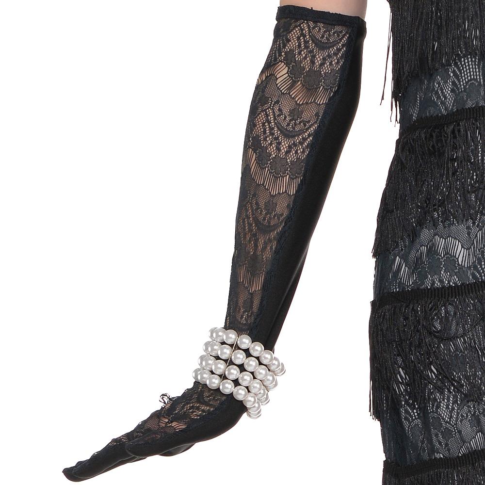 Adult Black Lace Flapper Costume Image #4