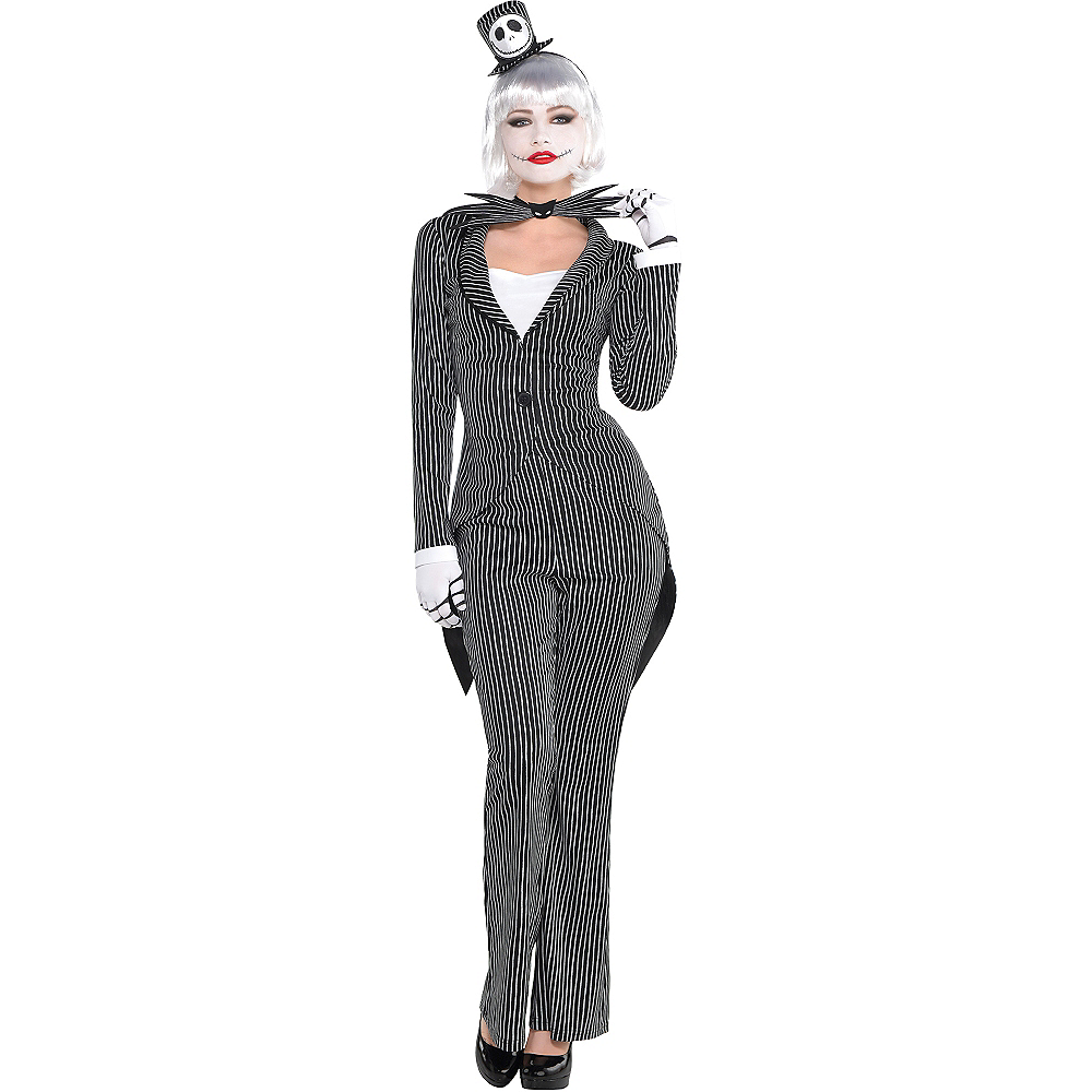 Adult Lady Jack Skellington Costume - The Nightmare Before Christmas ...