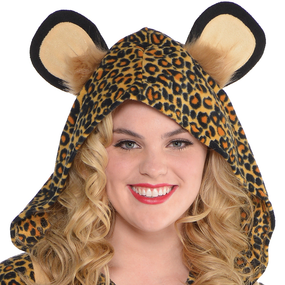 Adult Zipster Leopard One Piece Costume Plus Size Image #2