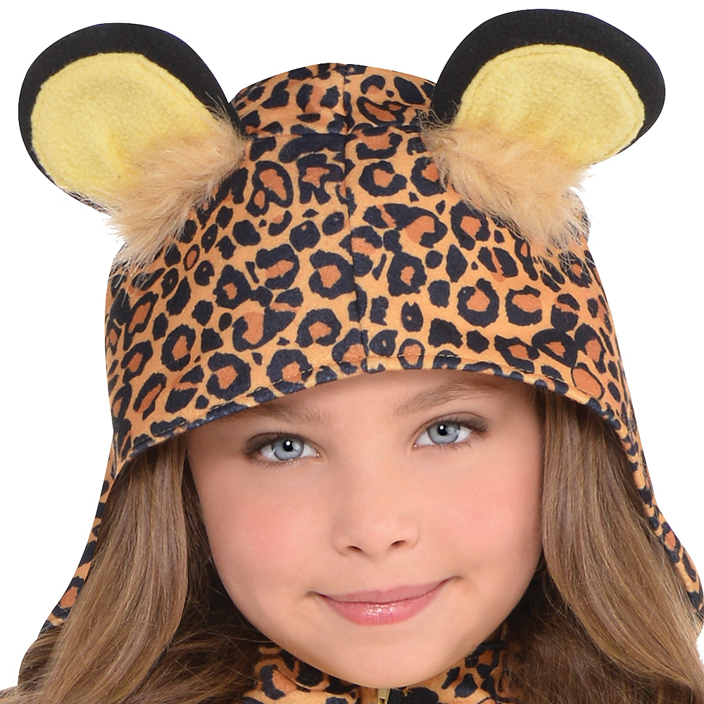 Girls Zipster Leopard One Piece Costume Image #2